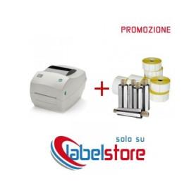 Stampante Zebra GC420D Kit con 10 rotoli di etichette termiche
