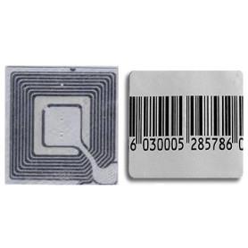 Etichetta adesiva per antitaccheggio a radiofrequenza