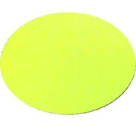 37x28 mm Rotolo etichetta ovale FLUORESCENTE giallo f.26 da 500 pz