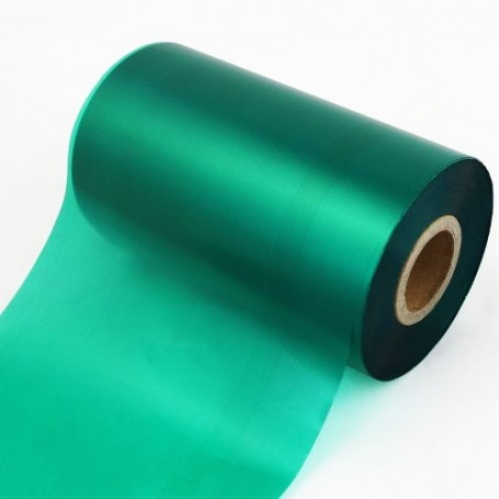 RIBBON mm 80x360 mt CERA resina VERDE Ink OUT