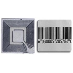 "Etichetta adesiva mm 25x25 disattivabile ""Ep"" per antitaccheggio radiofrequenza"