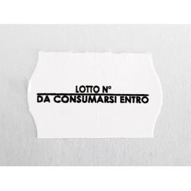 Etichette 26x16 BIANCO permanente A ONDA stampa 1 colore per prezzatrici