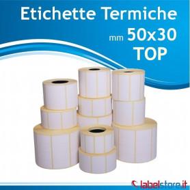 50x30 mm etichette termiche TOP da 1800 pz Confez.da 25 rotoli