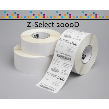 Etichette Zebra Z-Select 2000D mm 31x22- CONF. 12 ROTOLI
