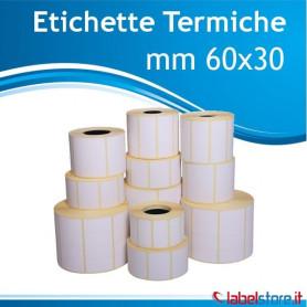 Rotolo etichette mm 60x30 TERMICHE da 1800 pz con Sconto Quantita'