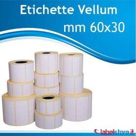 60x30 mm Etichette Vellum rotolo da 1800 conf. 10 rotoli