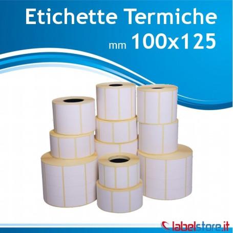 100x125 mm Rotolo etichette TERMICHE da 500 pz con sconto quantità