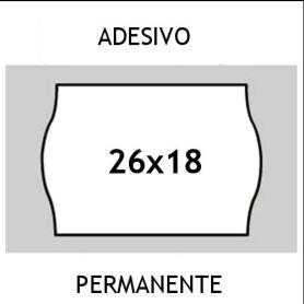 Etichette 26x18 PRIX BIANCO adesivo Permanente per prezzatrici