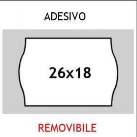 Etichette 26x18 PRIX BIANCO adesivo Removibile per prezzatrici