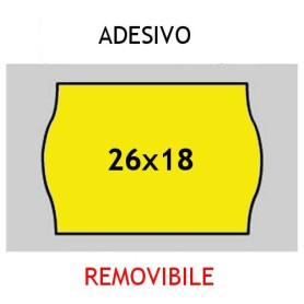 Etichette 26x18 Prix GIALLO adesivo Removibile per prezzatrici