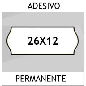 Etichette 26x12 BIANCO adesivo Permanente per prezzatrice