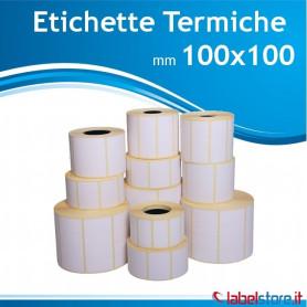 100x100 mm Rotolo etichette TERMICHE da 500 pz con sconto quantità