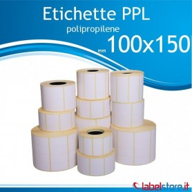 100x150 mm Rotolo etichette PPL LUCIDO da 500 pz  F. 75