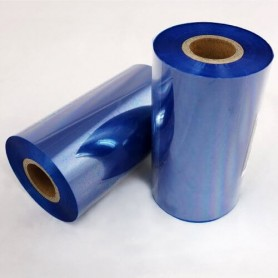 RIBBON mm 80x360 mt CERA resina BLU Ink OUT