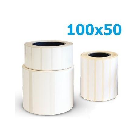 100x50 mm etichette vellum da 1000 pz. F.40 - Conf. 25 rotoli