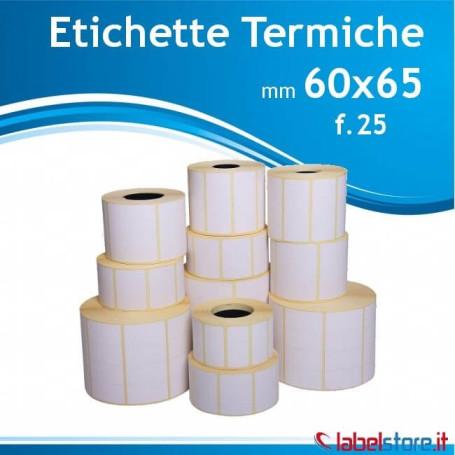 60x65 mm Rotolo etichette termiche f.26 da 500 pz