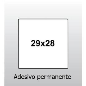 ETICHETTA 29x28 BIANCO CON ADESIVO PERMANENTE PER PREZZATRICE