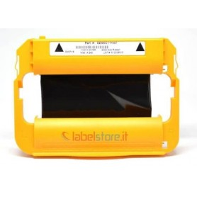 Cartuccia Nastro inchiostro cera 110 mm per Stampante Zebra ZD420 Trasferimento Termico