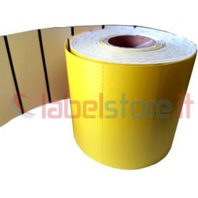 100x38 mm Etichette cartoncino TERMICO GIALLO per frontalini