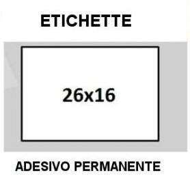 Etichette 26x16 BIANCO RETTANGOLARE adesivo Permanente per prezzatrice
