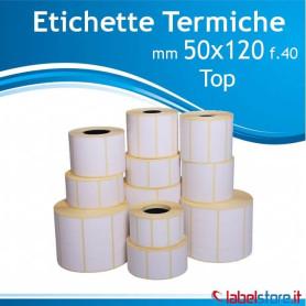 50x120 mm Rotolo etichette Termiche TOP da 1000 pz con Sconto Quantita'