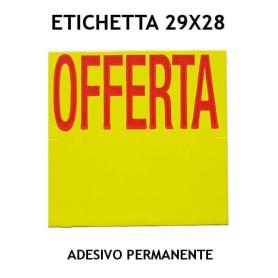 ETICHETTA 29x28 GIALLO  STAMPA OFFERTA  ADESIVO PERMANENTE PER PREZZATRICE