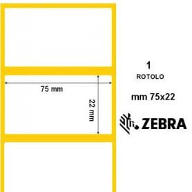 Rotolo etichette Zebramm 75x22 adesivo permanente