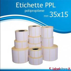 Rotolo etichette adesive mm 35x15 PPL BIANCO