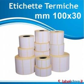100x30 mm Rotolo etichette termiche da 1000 pz con sconto quantità