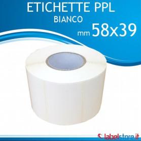 Etichette adesive 58x39 mm PPL BIANCO lucido