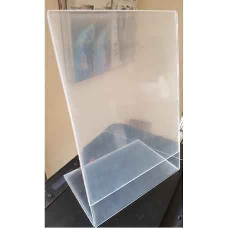 Portalistino in plexoglass trasparente fer fogli A4