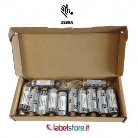 Ribbon Zebra mm 64x74 mt Cera 2300 trasferimento termico 12 pz