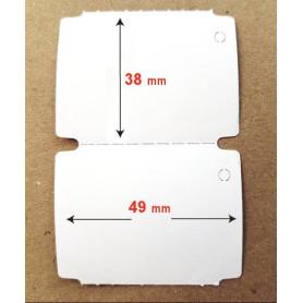 49x38 mm Etichette cartoncino Vellum bianco per cartellini