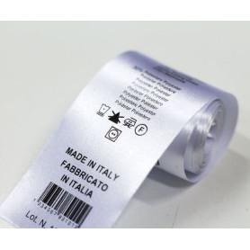Raso mm 35X200 Mt per stampa etichette composizioni abbigliamento