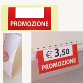Cartello Segnaprezzo in pvc per scaffale e stampa PROMOZIONE