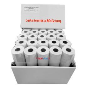 Rotolo mm 101 d50 in carta termica 80 gr per stampante portatile Zebra 50 pz