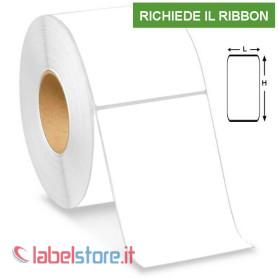 100x150 mm Etichette VELLUM adesive stampabili a trasferimento termico in rotolo da 400 pz