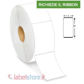 60x80 mm Rotolo etichette VELLUM adesive 800 pz con sconto quantità
