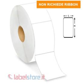 60x80 mm Rotolo etichette TERMICHE adesive bianche stampabili
