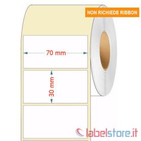70x30 mm Rotolo etichette TERMICHE adesive bianche stampabili