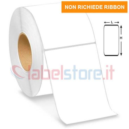 100x125 mm Rotolo etichette TERMICHE adesive bianco