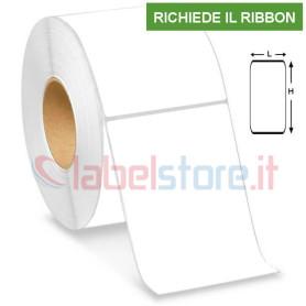 100x125 mm Rotolo etichette VELLUM adesive stampabili a trasferimento termico 500 pz