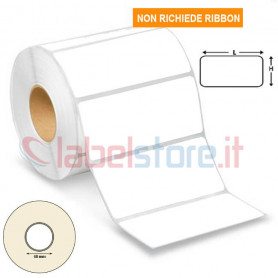 80x40 mm Etichetta TERMICA adesiva neutra in rotolo stampabile