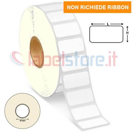 24x12 mm Etichette TERMICHE adesive neutre in bobina stampabili