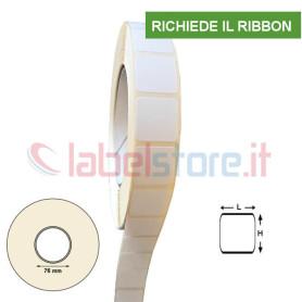 20x20 mm Rotolo Etichette VELLUM adesive stampabili a trasferimento termico