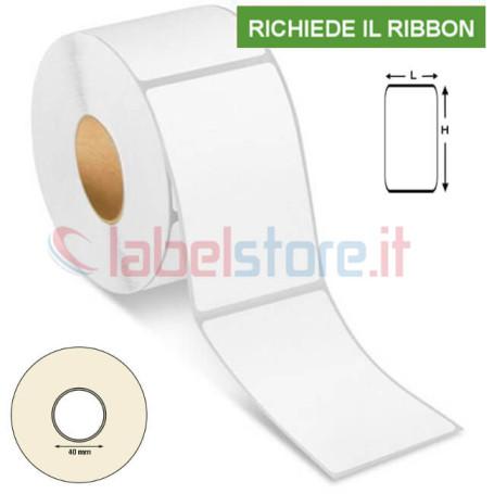 47x101 mm Etichetta VELLUM trasferimento termico adesive neutre in rotolo 500 pz
