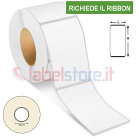 47x101 mm Etichetta VELLUM trasferimento termico adesive neutre in rotolo 1000 pz f.76