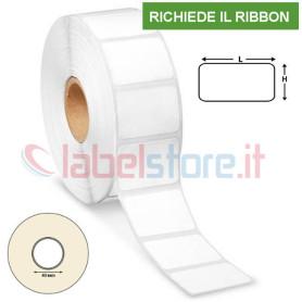 50x40 mm Etichette Vellum adesive in rotolo stampabile a trasferimento termico