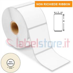 60x75 mm Rotolo etichette TERMICHE adesive bianche stampabili