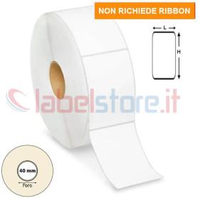 60x90 mm Etichette TERMICHE adesive bianco stampabile in rotoli da 700 pz
